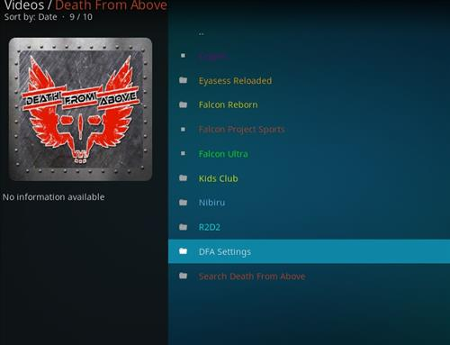 How to Install Death from Above Kodi Add-on with Screenshots pic 2