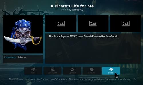 How to Install A Pirate's Life For Me Kodi Add-on with Screenshots step 19