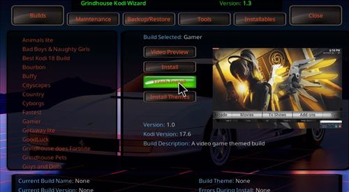 How to Install Gamer Kodi Build with Screenshots step 24