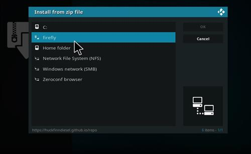 How to Install Firefly Add-on for Kodi 18 Leia step 11