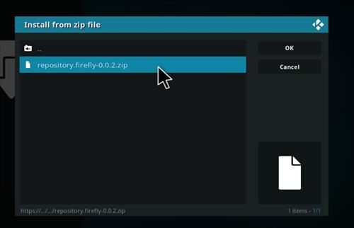How to Install Firefly Add-on for Kodi 18 Leia step 12
