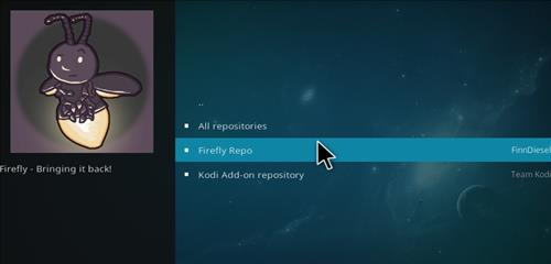 How to Install Firefly Add-on for Kodi 18 Leia step 15