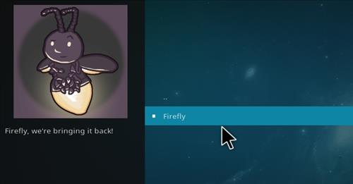 How to Install Firefly Add-on for Kodi 18 Leia step 17