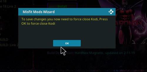 How to Install Hardnox 4.2 Kodi 18 Leia Build step 21