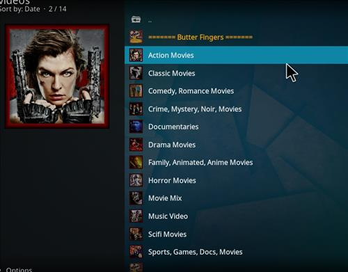 How to Install Butter Fingers Movies Kodi 18 Leia Add-on pic 2