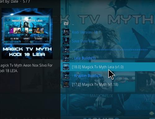 How to Install Magick TV Myth Kodi 18 Leia step 17