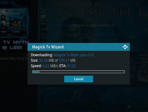 How to Install Magick TV Myth Kodi 18 Leia step 20
