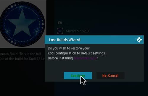 How to Install Mammoth Kodi 18 Build Leia step 18