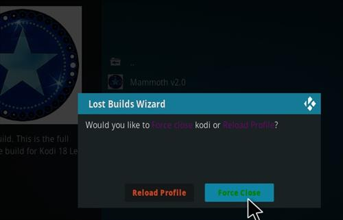 How to Install Mammoth Kodi 18 Build Leia step 20