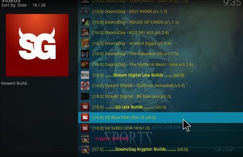 How to Install SG Blue Kodi Build 18 Leia step 17