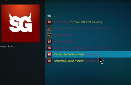 How to Install SG Blue Kodi Build 18 Leia step 18