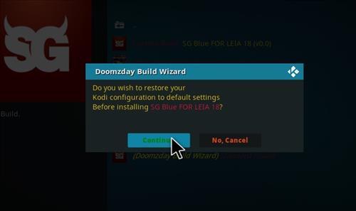 How to Install SG Blue Kodi Build 18 Leia step 19