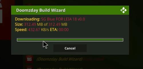 How to Install SG Blue Kodi Build 18 Leia step 21