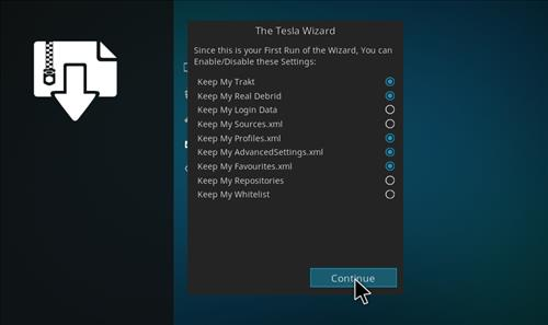 How to Install Teslax18 Kodi Build 18 Leia step 14