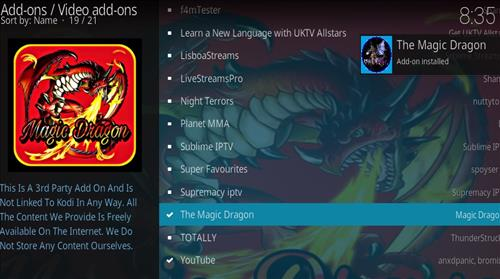 How to Install The Magic Dragon Add-on for Kodi 18 Leia step 20