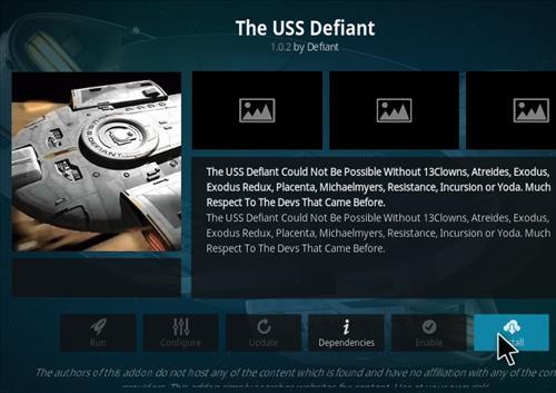 How to Install The USS Defiant Kodi 18 Leia Add-on step 19