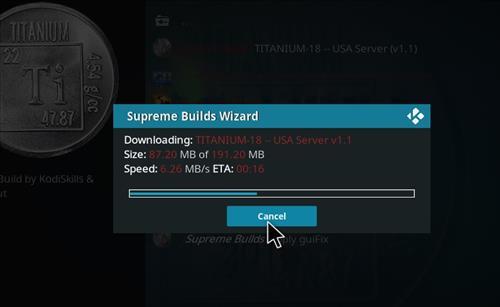 How to Install Titanium Kodi 18 Build Leia step 26