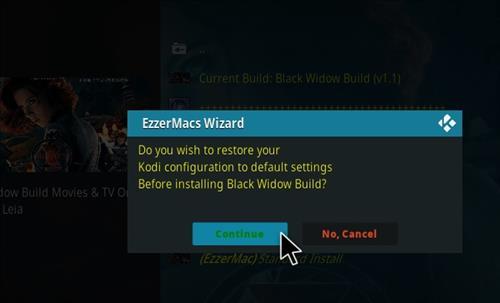 How to Install Black Widow Kodi 18 Build Leia step 26