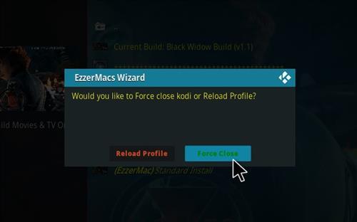 How to Install Black Widow Kodi 18 Build Leia step 28