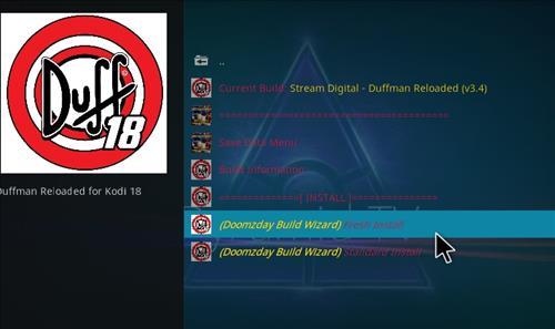 How to Install Duffman Reloaded Kodi 18 Build Leia step 18