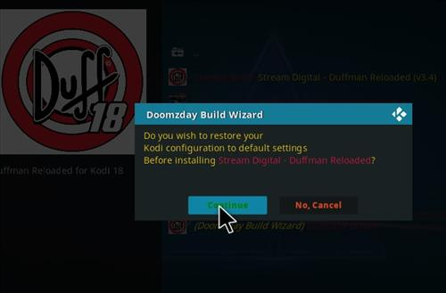 How to Install Duffman Reloaded Kodi 18 Build Leia step 19