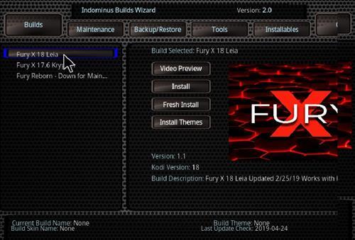 How to Install Fury- X 18 Kodi Build Leia step 16
