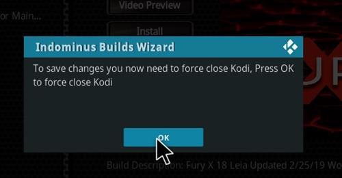 How to Install Fury- X 18 Kodi Build Leia step 20