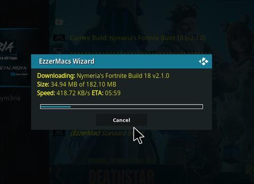 How to Install Nymeria's Fortnite Kodi 18.1 Build Leia step 27