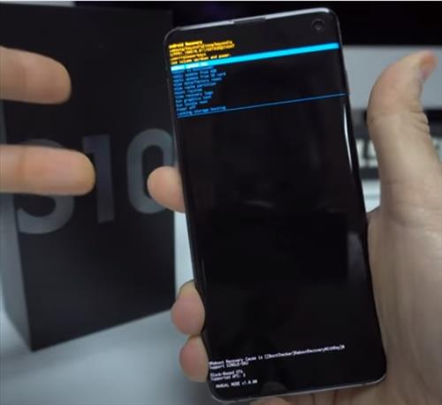 How To Factory Reset a Samsung Galaxy S10 with the Buttons Step 4