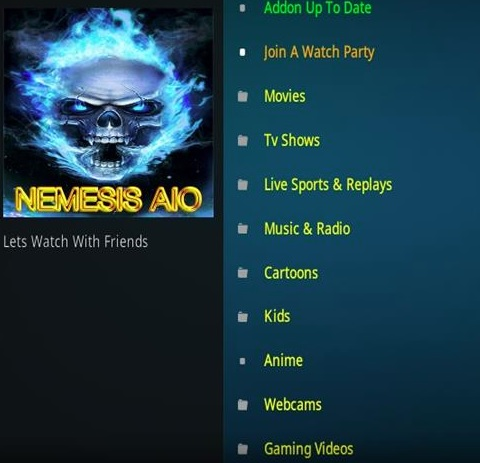 How to Install Nemesis AIO Kodi Add-on with Screenshots Overview