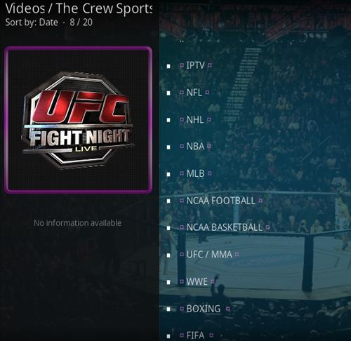 How To Install The Crew Sports Kodi 19 Matrix Addon Overview