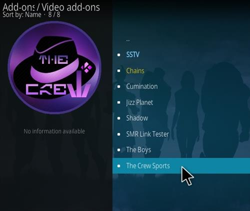 How To Install The Crew Sports Kodi 19 Matrix Addon Step 18