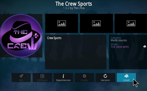 How To Install The Crew Sports Kodi 19 Matrix Addon Step 19