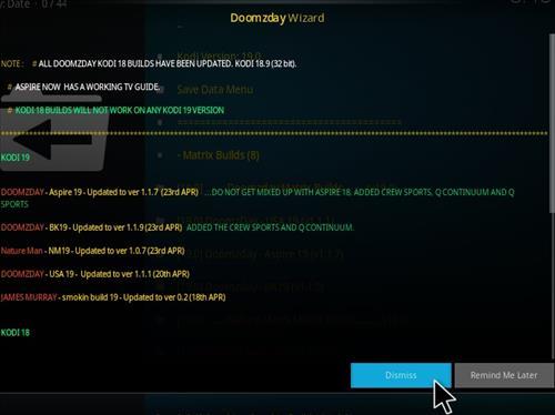 How to Install Doomzday BK 19 Kodi 19 Matrix Build Step 23