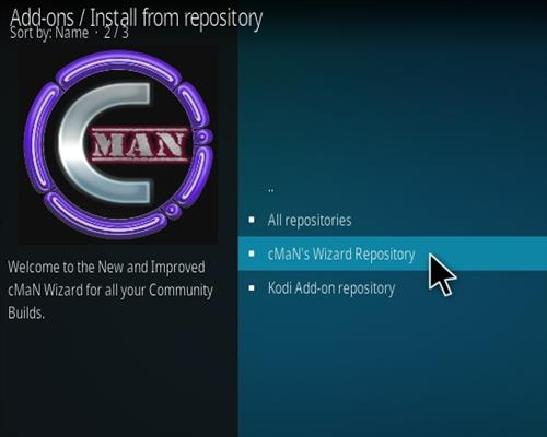 How to Install CMan JL Justice League Kodi 19 Matrix Build Step 16