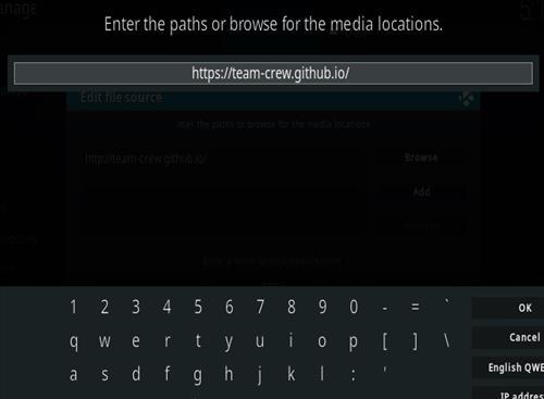How to Install The Crew Kodi 19 Matrix Add-on Step 5