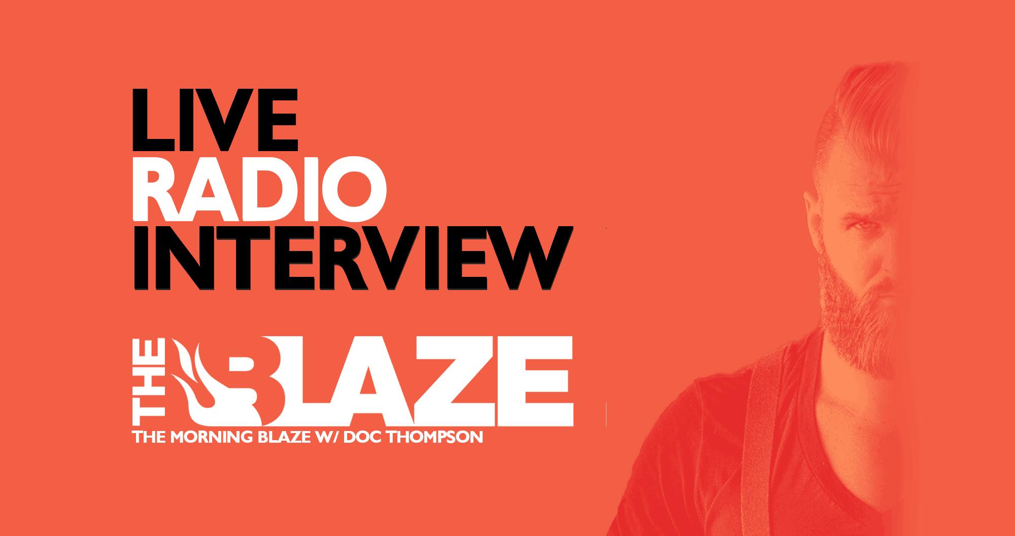 My Live Radio Interview On The Morning Blaze #BUILDINGAMERICA