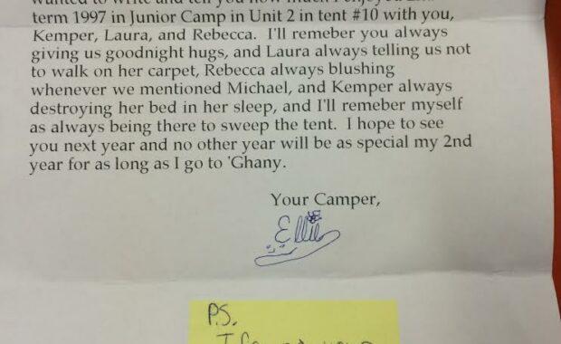 Camper letter