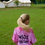 One Mini Camper showing her Mini Camp pride