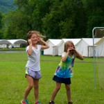 Camp Alleghany Mini Campers playing Quidditch.