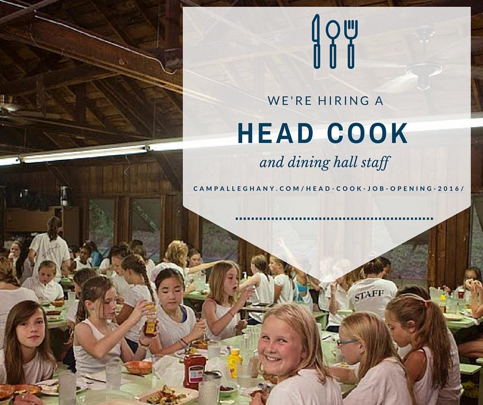 Head Cook Job Camp Alleghany