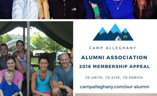 Camp Alleghany Alumni Association Membership Appeal