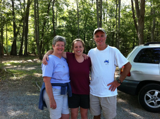 Sally, Courtney, and Joe Duane. at the 2nd Annual Alumni L.O.L. Weekend.