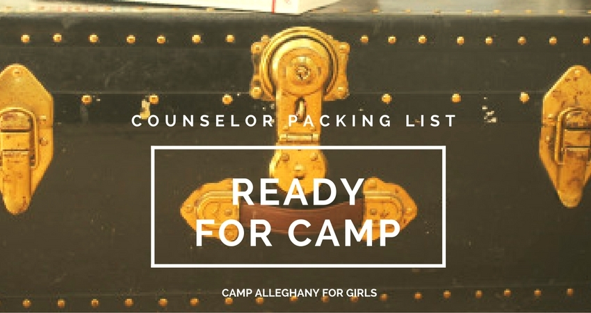 Camp Alleghany for Girls Counselor Packing LIst