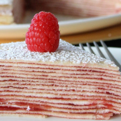 Strawberry Cream Cheese Crepe Cake
