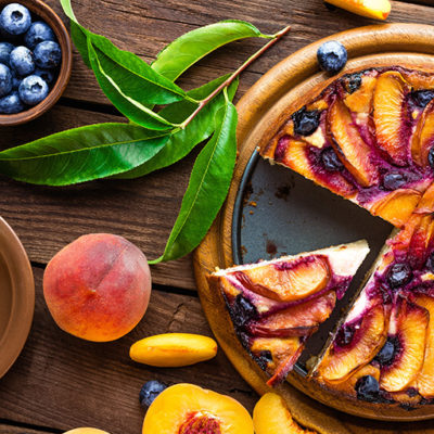 Roasted Peach Cheesecake