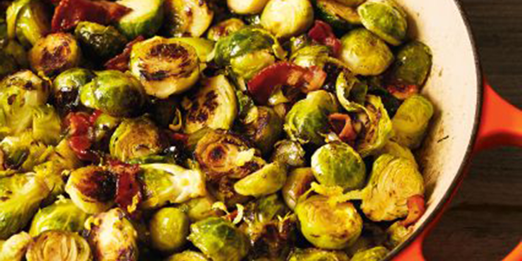 Carmalized Brussels Sprouts with Bacon