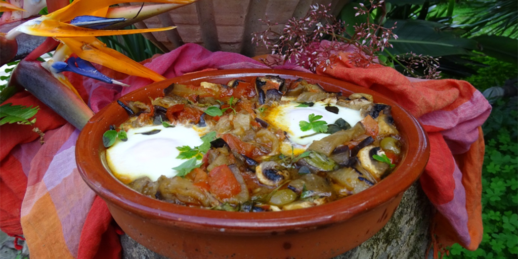 Eggplant Shakshuka with Olives and Feta