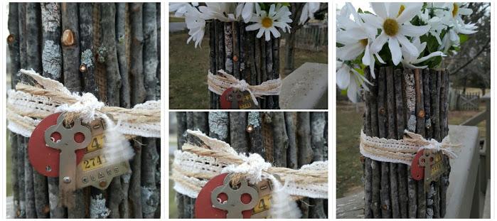 Twig Flower Vase collage
