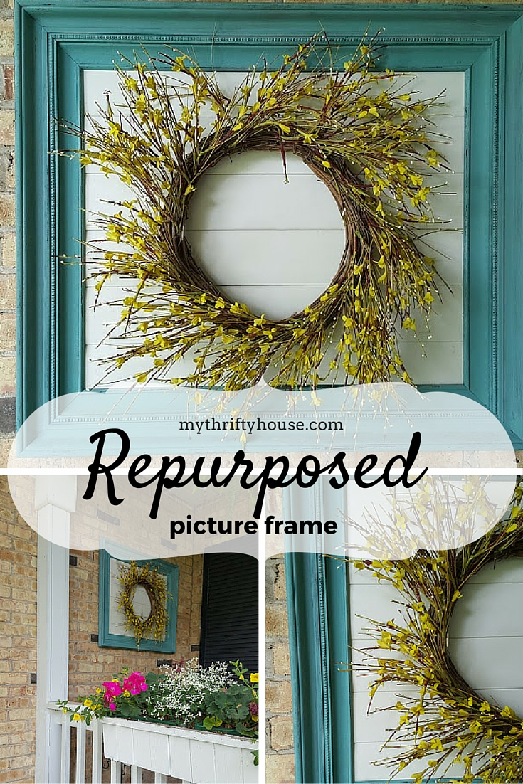 Repurposed Picture Frame Pinterest collage